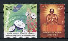 India 2017 MNH Ramanuja Ramanujacharya Telecom Regulatory Auth 2v Set Stamps