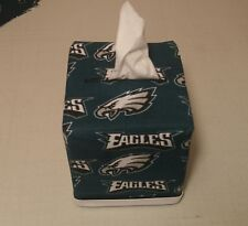 NFL Philadelphia Eagles Tissue Box Cover (white trim) Handmade