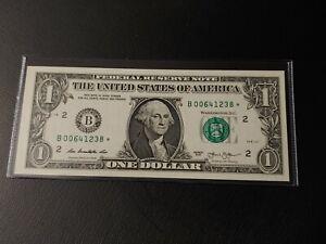 2013 B series $1 DOLLAR STAR NOTE B00641238* NEW YORK - **UNCIRCULATED**