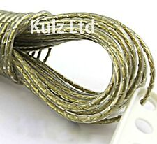 20 Metre PVC Coated Steel Anti Rust Wire Rope Washing Line Clothes Line 2 Hooks