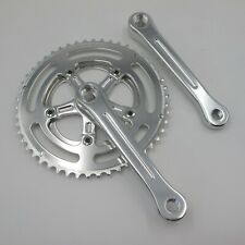 Andel Fluted Chainset 170mm 110mm BCD Silver Double Chainrings 50 - 34