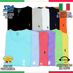 MAGLIETTA Polo Ralph Lauren Uomo Custom Fit Cotone Tshirt SALDI estate offerta