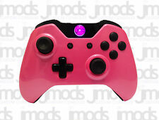 NEW Xbox One 1 Custom Wireless Controller (Gloss Pink) Led Mod