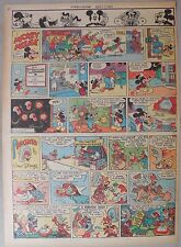 Mickey Mouse Sunday Page by Walt Disney from 8/12/1945 Tabloid Page Size