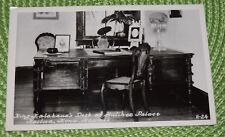 Vintage Kodak Vintage postcard KING KALAKAUA's DESK at HULIHEE PALACE HAWAII