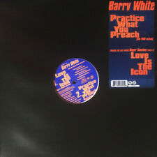 "12"" BARRY WHITE ‎– PRACTICE WHAT YOU PREACH (THE R&B MIXES) / LOVE IS THE ICON ç"