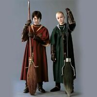 Harry Potter Adult Robe Cloak Gryffindor Slytherin Quidditch Cosplay Costume New
