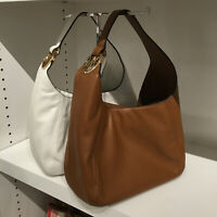 Michael Kors Fulton Large Hobo Shoulder Bag Brown Leather 35S0GFTH3L NWT Luggage
