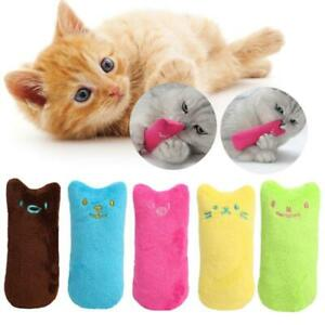 2pc Catnip Pillow Pet Cat Toy Gift Chew Crazy Grinding Play Toys Teeth Scratch