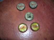 LOT OF 5 DIFFERENT BOTTLE CAPS OF PEPSI COLA, COCA COLA AND 7 UP