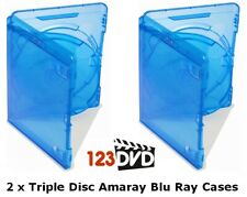 2 x Blu Ray Case 15mm Spine (Triple Disc) - Genuine AMARAY *FAST UK DISPATCH*