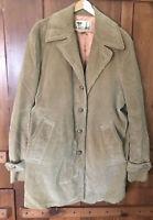 Vtg 70s Lakeland Mens 44 Long Wale Brown Corduroy Car Coat Jacket