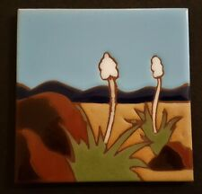 Arts&Craft Style Tile Yucca Plant Design Made In Italy: Great Style!