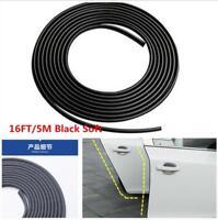 5M Black Car Door Moulding Rubber Scratch Protector Strip Edge Guard Trim