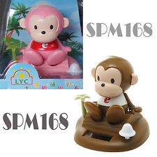 Solar Powered Toy Dancing Couple Monkey