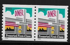 US Scott #3208, PAIR 1998 Diner 25c VF MNH