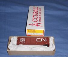 ACCURAIL 40' DOUBLE DOOR STEEL BOXCAR  HO GAUGE CANADIAN NATIONAL  NIB