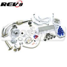 Rev9 Full Complete Bolt On T3t4 Turbo Turbocharger Kit For B Series B16 B18
