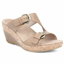 ddc5ed01ae3 Dansko Womens Sandals Carla Sand Full Grain Leather Size EU 38