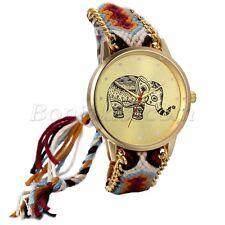 Women's Retro National Elephant Pattern Adjustable Bracelet Quartz Wrist Watch