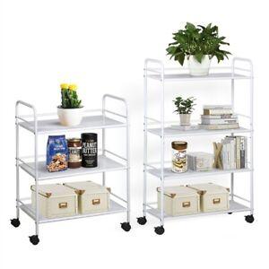 3/4 Salon Shelf Beauty Trolley Cart Spa Storage Rolling Cart Space Organizer