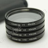 49mm Macro Close Up +1 +2 +4 +10 Lens Filter For Sony NEX-3 NEX-5 NEX-6 NEX-7