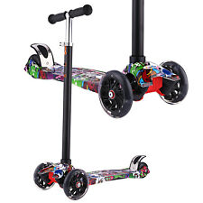 Kids Scooter Deluxe for Toddler Adjustable Kick Scooters Girls Boys LED Wheels #
