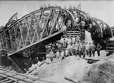 German soldiers rebuild bridge Lemberg Lviv 1914 World War I 8x10 Photo