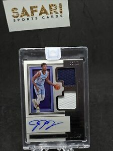 2019-20 Panini One And One Jaren Jackson Jr Dual Patch Auto 6/99 Grizzlies