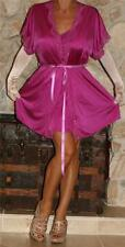 M / L SHORT FUSCHIA VINTAGE LINGERIE NIGHTGOWN / PEIGNOIR / ROBE SET SHADOWLINE