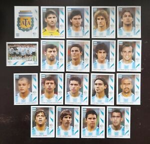 Panini FIFA World Cup Germany 2006 Complete Team Argentina Messi + Foil Badge