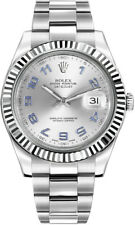 116334   Authentic Rolex Datejust II 41 Silver Dial Oyster Bracelet Men's Watch
