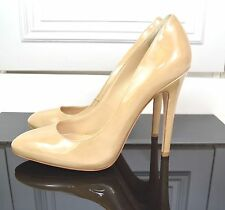 Jimmy Choo Nude Patent Leather round toe Victoria Pumps EU 39.5 / UK 6.5