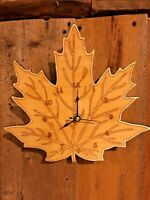 "Maple Leaf 10"" Wall Clock - Wooden - Laser Crafted Gift"""