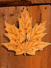 """Maple Leaf 10"""" Wall Clock - Wooden - Laser Crafted Gift"""""""