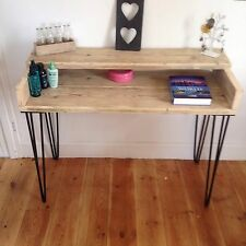 Dressing table wood rustic upcycled scaffold board