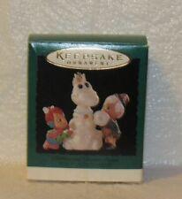 Hallmark Pebbles and Bamm-bamm The Flintstones 1995 Miniature Ornament