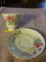 Royal Grafton English Fine Bone China Floral Tea Cup and Saucer Set #999