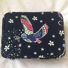 Vera Bradley Navy Owls Travel Pill or Other Zip Case Nwt