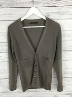 REISS Wool Cardigan - Size UK8 - Stone - Great Condition