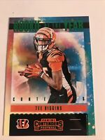 2020 Panini Contenders Football TEE HIGGINS ROOKIE OF THE YEAR RC GREEN PARALLEL