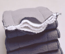 15X 5-Layer Inserts Reusable Bamboo Charcoal Modern Cloth Nappy Liners 11x28cm