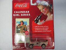 Johnny Lightning Coca Cola Calender Girl Series Tan Military Willys Jeep No. 12