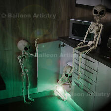 "38"" Skeleton Alien Halloween Party Hanging Decoration Sci-Fi Durable Plastic"