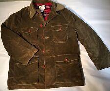 Vintage 1950's LL Bean Script Label Corduroy Jacket Coat Size 42 Olive Green