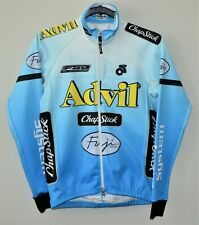 ADVIL Champ-sys Long Sleeve BLUE Cycling Jersey Jacket Fleece Lined X Small XS