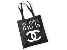 My Other Bag Is... Designer - Novelty Fun Gift Shopping Black & White Tote Bag