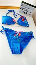 Ted Baker Raspberry Ripple Bikini Top & Bottoms size 4 UK 14 BNWT🌈