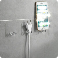 10PCS Strong Self-Adhesive Hooks Wall Door Sticky Power Plug Hanger Holder
