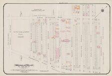 1913, CHARLES E. GOAD, MONTREAL, CANADA, NOTRE DAME de GRACES PARK, ATLAS MAP